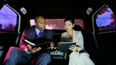 Successful Financial Advisors Luxury Transport Wireless Technology Stock Footage