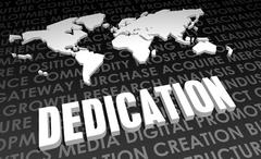 dedication - stock illustration