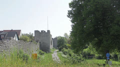 Visby walls Stock Footage