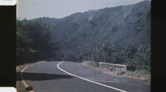 End of the road. (Vintage 1970's 16mm film footage). Stock Footage