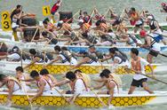 Stock Photo of dragon boat racing, singapore