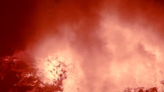The spectacular Nyiragongo volcano erupts at night in the Democratic Republic of Stock Footage
