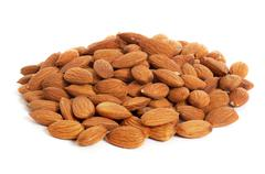 Almond isolated Stock Photos