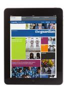 Ipad edition of the guardian newspaper Stock Photos