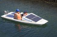 Stock Photo of solar powered boat