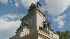 Garibaldi Monument, Janiculum Rome 4 (slomo dolly) Stock Footage