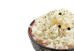 Rice in ceramic ware Stock Photos