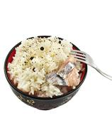 rice in ceramic ware - stock photo