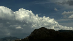 Billowy Monsoon Clouds Mountain Time Lapse Stock Footage