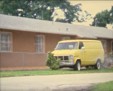 SUPER8 USA house with bus Stock Footage