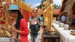 Wat Doi Suthep Stock Footage