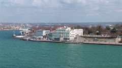 Seafront of the city of Sevastopol. Stock Footage