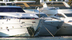 Yachts at the pier. Stock Footage