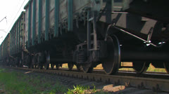 Cargo train in motion. Stock Footage