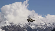 Stock Video Footage of Helicopter sits in the mountains