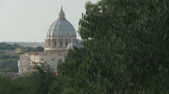 St Peters dome 1 (slomo dolly) - stock footage