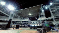 Music concert stage set up buildup construction time lapse 2 - stock footage