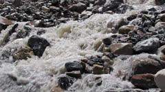 White mountain river Stock Footage