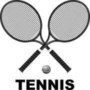Tennis rackets and ball Stock Illustration