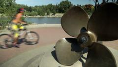 Propeller at Eau Claire Market Stock Footage