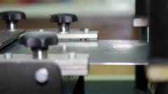 Fabrication of metal profiles for the construction industry. - stock footage