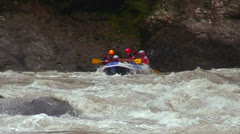 White water rafting on a river in Costa Rica. Stock Footage