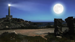 Full moon landscape. Stock Footage