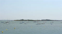 Sailboats in french coast 01 Stock Footage