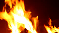 Fire barbecue Stock Footage