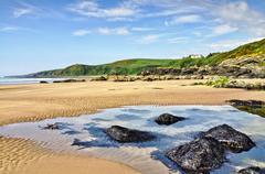 Rocks at Killantringan Bay, Dumfries & Gallloway - stock photo