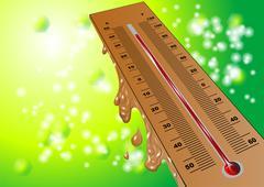 summer heat - stock illustration