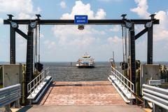 Ferry landing - stock photo