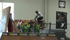 BMX Quarter-Pipe Crash Stock Footage