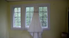 Wedding gown tilt Stock Footage