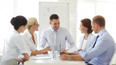Business people having a meeting Stock Footage