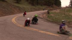 Longboard Crash Stock Footage