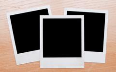 polaroids - stock photo