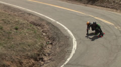 Longboard Crash 06-H.264 Stock Footage