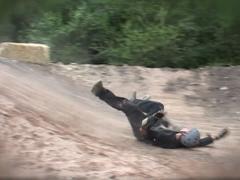 Mountain Board Crash Stock Footage