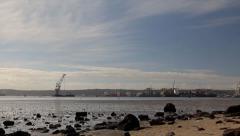 Durban Harbour Crane Barge Timelapse | Durban Stock Footage Stock Footage