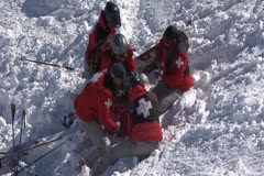 Ski Patrol Rescue Stock Footage
