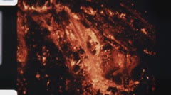Lava. (Vintage 1970's 16mm film footage). Stock Footage