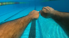 Swimming - Freestyle Stock Footage