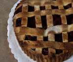 Stock Video Footage of cherry pie pan