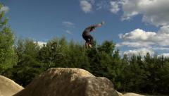 Extreme Sport - BMX Crash 360 on Jump Stock Footage