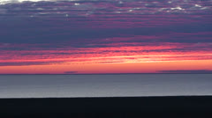 A beautiful sunset behind the Aral Sea in Uzbekistan. - stock footage