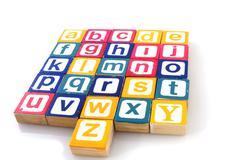 Learning the alphabet Stock Photos