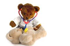 doctor bear - stock photo