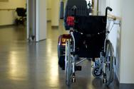 Stock Photo of wheel chairs