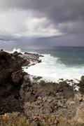 Coast easter island Stock Photos